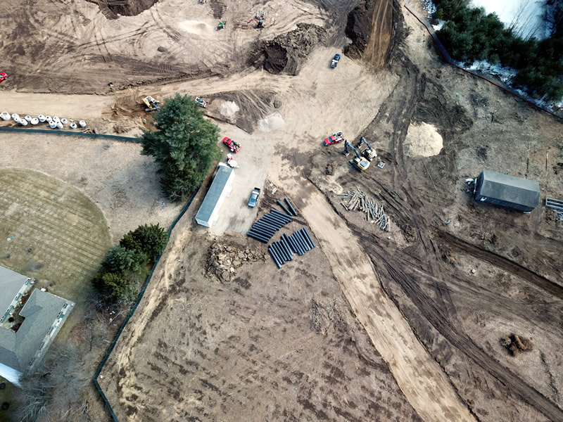drone photography for construction